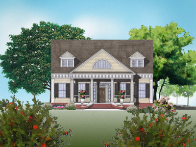 Burn house plan rendering