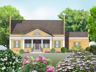 Cherokee house plan rendering