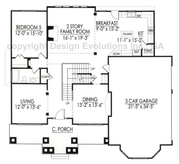 Bradbury de033 design evolutions inc ga Architectural floor plans