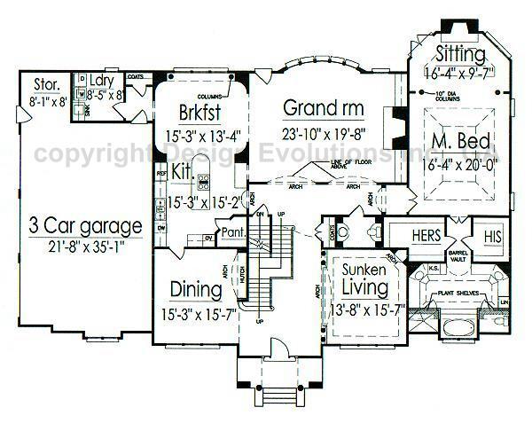 Gothic revival house floor plans house design plans for Gothic revival home plans
