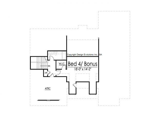 Braylon house plan second floor