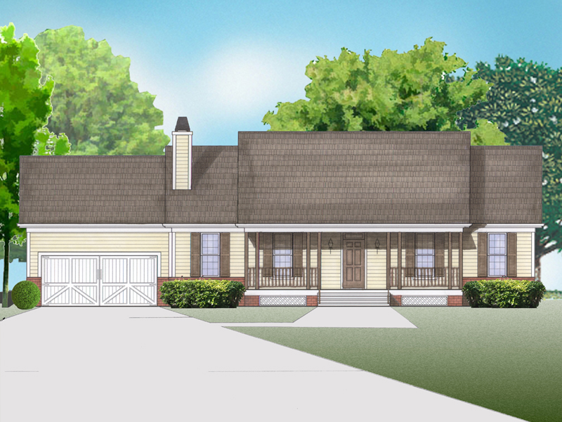 Carolyn House Plan De129 One Story House Plan 3 Bed